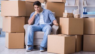 Man dividing assets in divorce