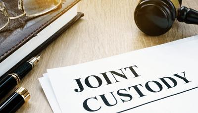 Joint custody agreement with gavel